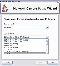 Network Camera Wizard