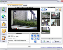webcamXP is a powerful webcams and ip cameras management and streaming software for private and professional use. it offers unique features and unequaled ease of use to let you broadcast and manage multiple video sources on the same computer. it is the perfect tool to secure your goods and to easily manage users' accesses.   supported devices:  - usb webcams (WDM driver required)  - tv, analog or multi-input capture cards (WDM driver required) - ip cameras (JPEG/MJPEG/MPEG4) - Windows Media streams (ASF) - local video files (AVI/WMV/MP4/MOV/...)   supported streaming modes:  - still jpeg images for low-tech devices - flash client (compatible with most operating systems and handheld devices) - javascript clients (MJPEG or JPEG PUSH) - Windows Media streaming   additional key features:  - local and remote pan & tilt control (Logitech Orbit, Creative LiveMotion! and IP cameras). - supports FTP/FTPS and HTTP/HTTPS Post - motion detector (optical or acoustic) with many possible ways to handle alerts (local recording, ftp, http post, launch external applications) - advanced users manager to grant limited or unlimited access. - overlay editor supporting picture in picture, animated gifs, alpha-blending and text editor. - DVR (permanent recording deleted after X hours)